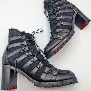 Christian Louboutin Chaletta Combat Boots 41.5